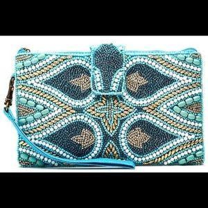 Mermaid Beaded crossbody bag zipper pouch